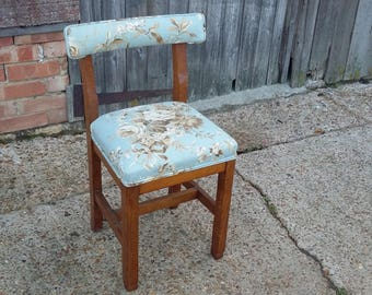 Vintage Upholstered Child Child's Chair