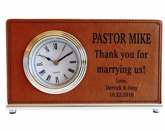 Wedding Officiant Gift - Gifts for Officiant Personalized - Officiant Thank You Gift for Marrying us Gift - Gift for Priest - Clock, LCO001