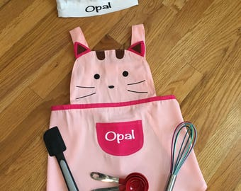 Personalized Toddler Chef Hat and Apron