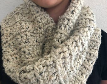 Wool Blend Cowl Neck Scarf