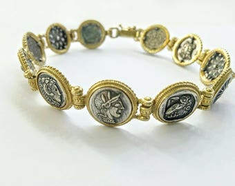 Solid Silver 925 bracelet with ancient Hellenic themes