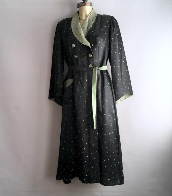 1940er Jahre Seide Haus Mantel / Kimono / Hausmantel