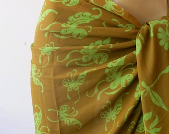 Beach Cover Up, Batik Sarong,Short Sarong, Pareo