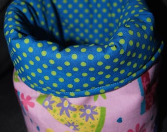 Tidy reversible cotton printed polka dots and rain boots