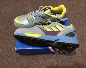 Adidas ZX 8000 , US 10 , yELLOW pURPLE torsion vintage  new footwear