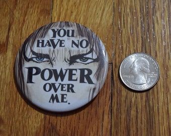 """Limited Edition Labyrinth Inspired 2.5"""" Button - David Bowie as Jareth the Goblin King"""