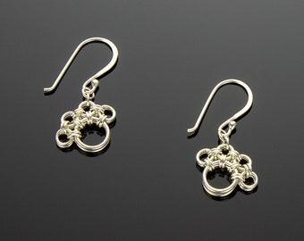 Handmade Chainmaille Paw Print Earrings