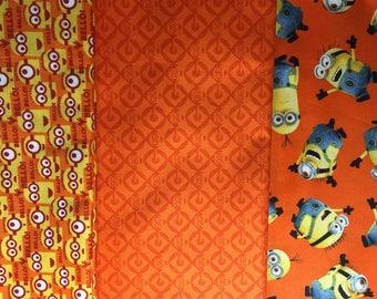 MINIONS set 3 PATCHWORK QUILTING TREASURES fabrics