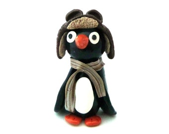Penguin figure, Penguin, Fimo Penguin, Penguin collectible, Penguins, Figurine, Kawaii, Kawaii penguin,
