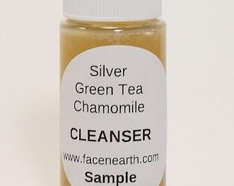 SAMPLE Colloidal Silver Acne Rosacea Soap with Green Tea & Chamomile Extracts 79% Organic - Acne/Pimples/Rosacea/Dry Skin/Blemishes VEGAN