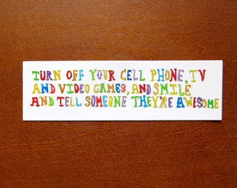 Turn Off Your Tv.... Sticker