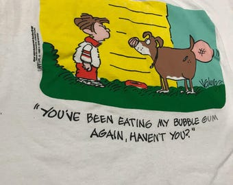 1989 Gene Myers funny paper t shirt