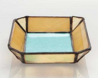 Yellow and Teal Unique Beautiful Jewelry Tray