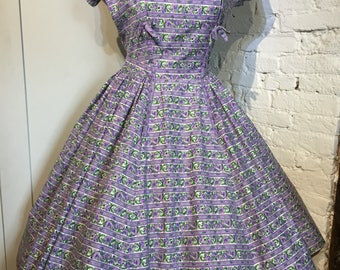 Original 1950s Horrockses Printed Cotton Dress