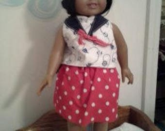 "18"" doll sailor suit 308E"