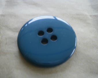 Large round plastic buttons, colors green duck diameter 44 mm