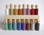 German Glass Glitter - Your Choice 4 Small Bottles