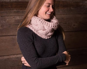 The Esme Cowl // Chunky Cabled Knit Cowl