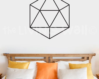 Diamond Wall Decal Sticker, Hexagon Removable Vinyl Geometric Decoration Wall Art Home Decor, Australian Made