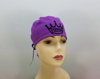Surgical Cap ponytail stile, scrub caps, personalized-Princess- Cotton 100%