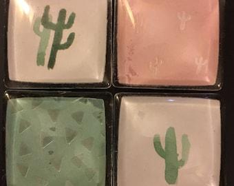 Cactus Square Magnets