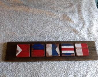 """nautical flags """"beach"""""""