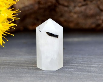 Black Tourmaline Quartz Point (24mm x 13mm x 11mm) - Crystal Healing - Generator Point - Tourmaline Tower - Tourmaline Wand - Quartz Obelisk