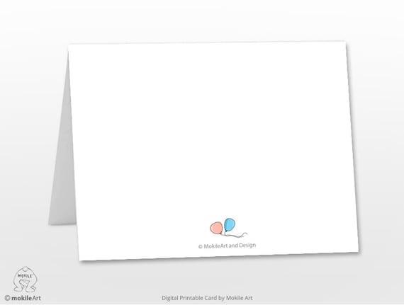 Printable Birthday Stationery Paper ~ Printable birthday cards instant download digital template