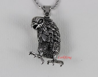 Eagle necklace, animal necklace, bird necklace, stainless steel, eagle head necklace, eagle pendant, unique eagle, popular eagle, NE7001