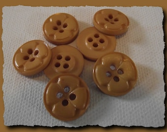 """Caramel Brown buttons 8 * 15 mm 0.6 """"4 hole button brown haberdashery 1.5 cm"""