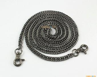 1 Piece 120cm Gunmetal Purse Shoulder Crossbody Chain Strap Diy Handbag Chain (NO7-120)