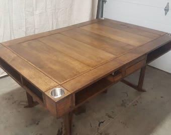 Quarter Sawn Oak Game Table