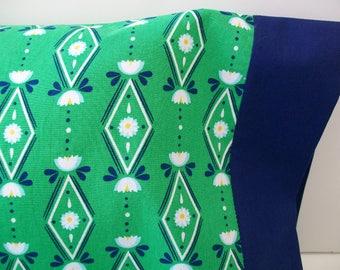 Organic Toddler Pillowcase, Organic Travel Pillowcase, Kids, Girl, Floral, Daisies, Wallflowers, Organic Toddler Bedding Girl, Pillow Case