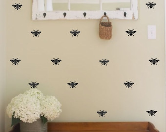 Bee Vinyl Wall Decal- Honey Bee -Designer Decor-Home Decor-Bedroom Decor- Wall Decor