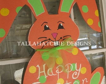 Easter Bunny Door Hanger- Bunny Door Hanger- Wooden Bunny Door Hanger- Spring Door Hanger -Happy Easter Door Hanger -Easter Wreath