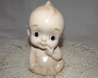 Vintage Ceramic Kewpie Doll like naked baby, 80s, figurine, home décor, collectible, cute, baby shower
