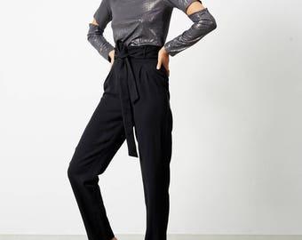 Tailored Pants,Black Pants, Cigarette Pants, Womens Pants, Work Pants,High Waist Pants, Suit Pants, Womens, Fashionable Trousers