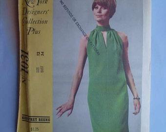 Vintage 60s Geoffrey Beene Designer Dress Uncut Pattern 34