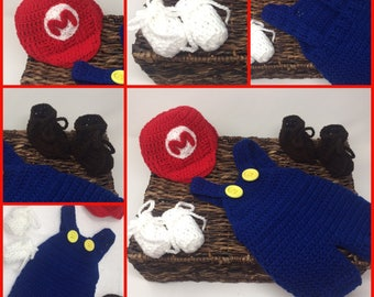 Super Mario Crochet Outfit