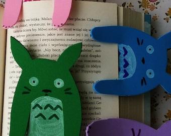 totoro foam bookmark colourful