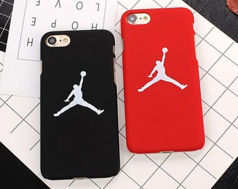 Flying Man Michael Jordan Basketball 23 Air Jordan Bulls Chicago Red Black White High Quality PC Case Apple iphone X 8 7 6 plus 6 6S Fundas