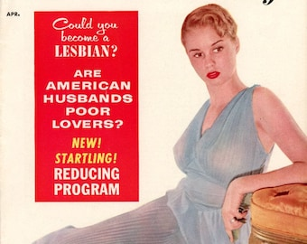 For Women Only   Magazine   1955   Vol. 1 # 1  First Issue  Very Collectible  Could You Become a Lesbian ?   Poor Lovers  Nice Girls Go Wild