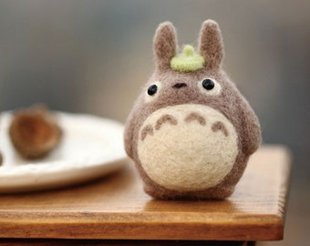 Zanza DIY Handmade Needle Felting Craft Totoro Wool Felt Kit