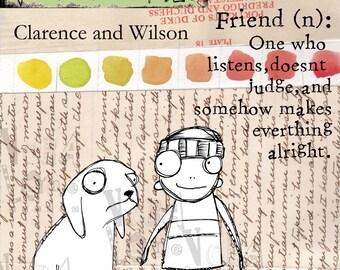 boy and his dog digi stamp set