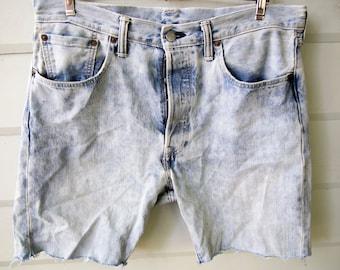 Levis 501CT Blue Shorts Size 33 X 32