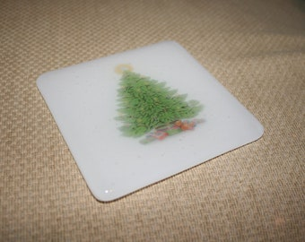 Photos de Noël coloré dessous de verre