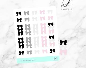 Bow Checklist - Neutral Planner Stickers