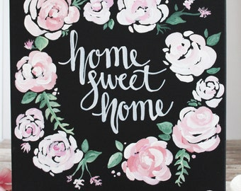 Home Sweet Home Canvas | Home Sweet Home | Home Decor | Home Sweet Home Sign | Home Gift | Wall Decor | Home Sign | Decor Wall Art | Quote