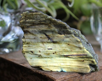 Labradorite, spectrolite, semi polished, crystal specimen, rock stone, minerals gemstones, 8
