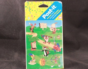 Vintage Post-it Removable Warner Characters Stickers. 2 Sheets. Sealed
